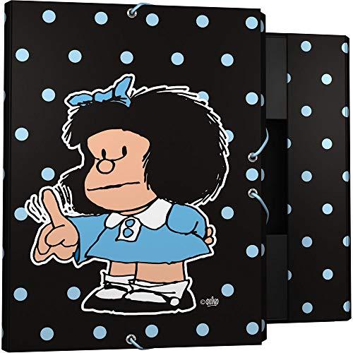 Grafoplás 82401972. Carpeta de 3 solapas Mafalda Lunares