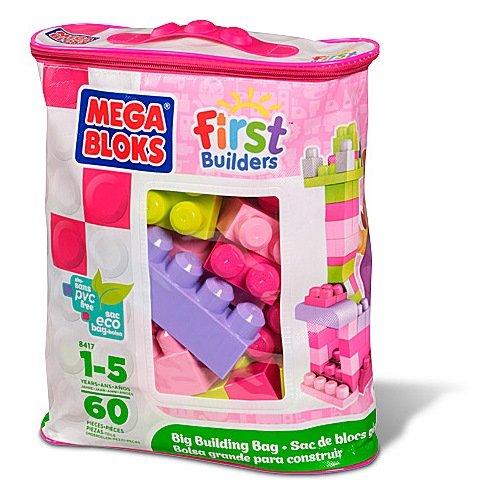 Mega Bloks First Builders - Bolsa de construcción grande, color rosa