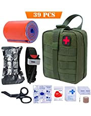 TOUROAM Tactical First Aid Kit-MOLLE Admin Pouch IFAK-EMT Survival Trauma Kit-Camp Travel Car First Aid Emergency Kit…