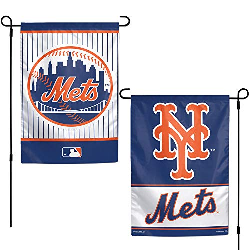 MLB New York Mets 12x18 Garden Style 2 Sided Flag, One Size, Team Color