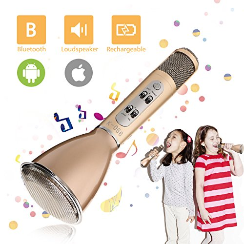 Wireless Karaoke Microphone,SGODDE 3-in-1Portable Bluetooth Karaoke Player - Universally Compatible Microphone for Music Playing and Singing Home and Outdoor