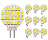 GRV G4 24-2835 SMD LED Bulb Lamp Super Bright Warm White RV Camper Under Cabinet Dome Light DC12V Dimmable Pack of 10