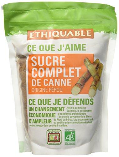 Ethiquable Sucre Complet de Canne Poudre Pérou, Bio, Le sachet de 500g