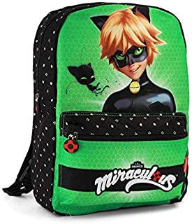 Ladybug Cat Noir Transform, Mochila infantil reversible, 40 cm, Multicolor