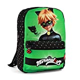 Karactermania Ladybug Cat Noir Transform, Mochila infantil reversible,...