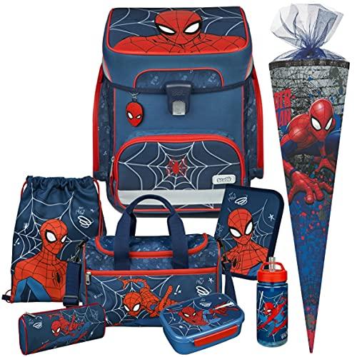 Spiderman - SCOOLI Undercover EasyFit Schulranzen-Set 9tlg. mit SCHULTÜTE, Sporttasche, BROTDOSE und TRINKFLASCHE