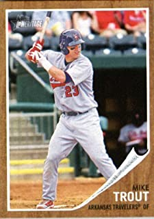 2011 Topps Heritage Minor League Baseball Rookie Card #44 Mike Trout
