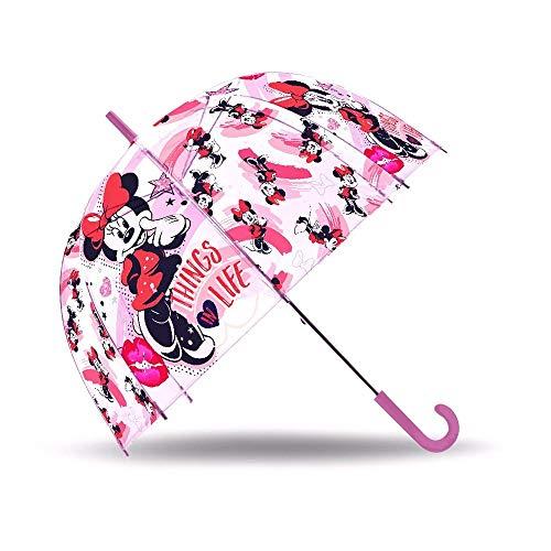 Disney- Minnie Parapluie Transparente Cloche, WD19201, 19''