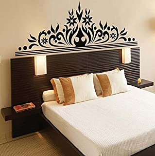 CuteWallDesigns Wall Sticker Monochrome Abstract Wall Art Design for Bedroom (PVC Vinyl Black Finished Size on Wall: 170x6...