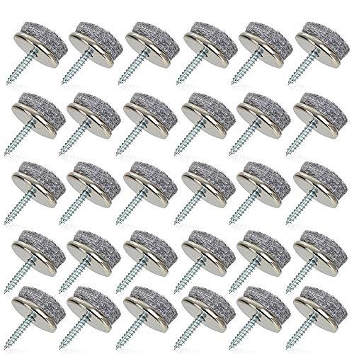 almohadillas de fieltro para muebles almohadillas Dia 22mm paquete de 30 almohadillas de fieltro para protección de muebles almohadillas antideslizantes patas para piernas