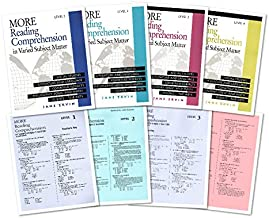 More Reading Comprehension in Varied Subject Matter Complete SET (8 Books) -- Book 1-4 and Teacher's Key 1-4
