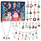 VAINECHAY Calendario dell'Avvento di Natale Bambini Calendario dell'Avvento 2021 Braccialetti con ciondoli Gioielli Calendario dell'Avvento per regali per ragazze