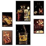 Poster24 Premium Poster Set Whiskey   2X DIN A3 und 4X DIN