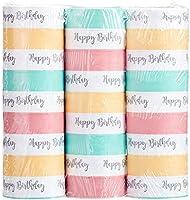 Amscan 9903734 Happy Birthday Serpentin, Pastell, 3 st