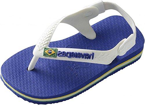 Havaianas Jungen Baby Brasil Logo Zehentrenner, Blau (Marine Blue), 19 EU
