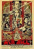 XIANGLE Leinwand Poster Kill Bill Vol.1 Klassiker Retro