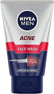 NIVEA Men Acne Face Wash for Oily & Acne Prone Skin, Fights Oil & Dirt with Magnolia Bark Power, 100 g