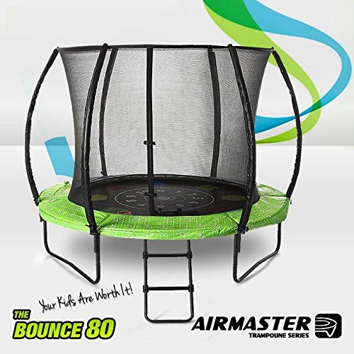 Airmaster Premium Outdoor Trampoline Set 8ft 10ft 12ft 14ft with Safety Enclosure Pad Ladder