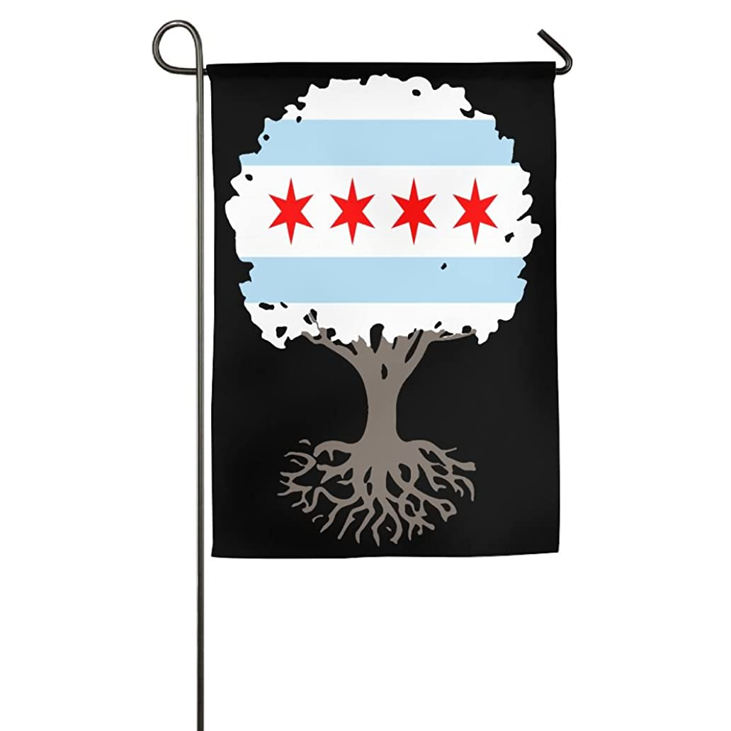 LLiYing-D Tree Of Life With Chicago Flag Pun Gift Flag ylb9227230