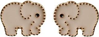 Pendientes hembra S925 aguja de plata dibujos animados lindo bebé elefante pendientes simples y pequeños pendientes de gota de aceite imagen animal fresca oreja joyería
