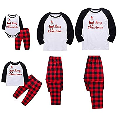 Family Christmas Pajamas Set Long Sleeve Letter Sleepwear Nightwear Parent Child Family Equipment Matching Clothes