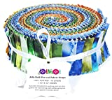 Soimoi 40Pcs Tie & Dye Imprimir Telas De Precorte De Algodón Para Acolchar Las Tiras De Artesanía 1.5 X 42 Pulgadas Rollo De Jalea - Multicolor-9V