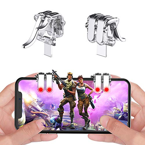 sunny seat Mobile Game Controller Claw Phone Aim Controller Triggers Joystick Gamepad Android iOS Joypad Fire Button Game Grip Handy Trigger verstellbarer Clip 6 Finger Kooperation