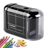 Kasimir Taille Crayon Electrique Professionnel Batterie Automatique Taille Crayon électrique Portable pour Les Enfants étudiants Artiste Designer Au Bureau De L'école -Noir