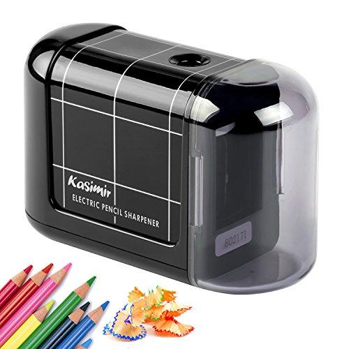 Taille Crayon Kasimir Electrique Professionnel Batterie Automatique Taille Crayon électrique Portable pour Les Enfants étudiants Artiste Designer Au Bureau De L école -Noir