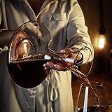 Amisglass Dekanter, Weinbelüfter Dekantierer für Rotwein, Mit Zubehör (Korkverschluss) - 100% bleifreie Weinkaraffe aus Kristallglas - Weinbelüfter Dekantierer für Rotwein - Einzigartige Geschenkidee - 6