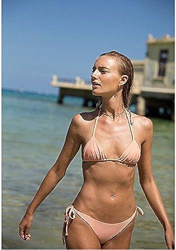 Gyps Femme Bikini Sexy de Bain Bikini à Bretelle Triangle maillot de bain Plage Hot Printemps Maillot de Bain Mode Les Les dames Double Tissu Moderne Confort Bikini Maillot de Bain Thermale, Couleur de