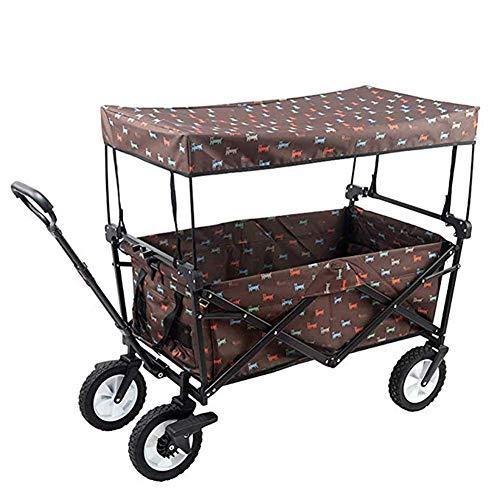 Z-SEAT Gartenwagen Wagen Klapptransport Hand LKW Anhänger Nutzwagen 100kg Abnehmbares Dach mit zusammenklappbarem Dach