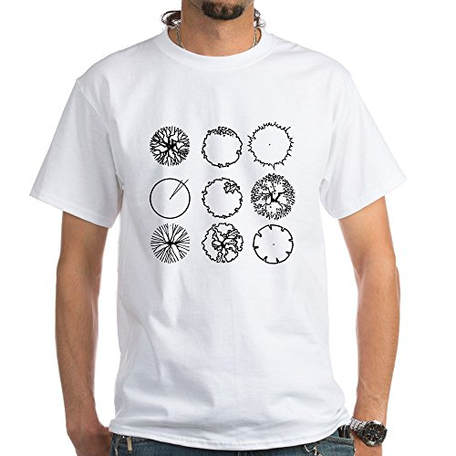 CafePress Tree Symbols T Shirt 100% Cotton T-Shirt, White