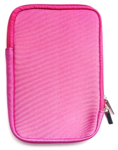 Emartbuy® Hot Rosa Wasserabweisende Weiche Neopren Hülle Schutzhülle Sleeve Hülle mit Reißverschluss geeignet für Msi Windpad 100W Tablet (10-11 Zoll eReader/Tablet / Netbook)