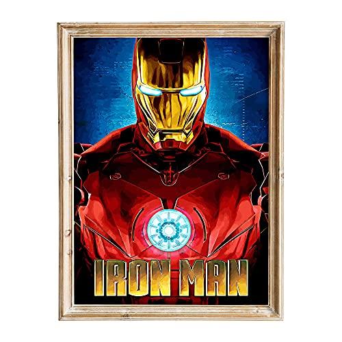 FANART369 Póster de Iron Man # 8, tamaño A3, diseño de fanart original para pared, 29,7 x 42 cm, sin bordes