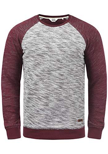 !Solid Flocker Herren Sweatshirt Pullover Flocksweat Pulli Mit Rundhalsausschnitt Aus 100{e44516ba722f461d35c1c7b81eb9abbd3597231b29790ad634a1d1c8d32188ce} Baumwolle, Größe:M, Farbe:Wine Red (0985)