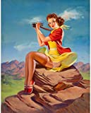 Art Frahm Pinup Girl The Joy p7477 A2 Canvas - Art Painting Decor Wall Gift R...