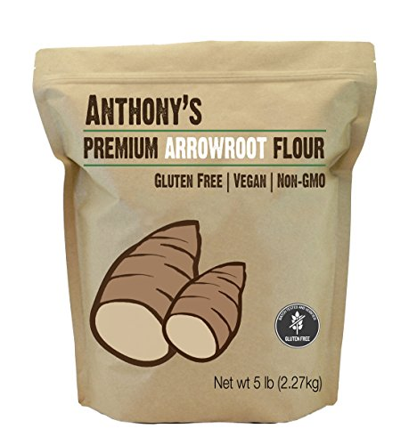 Anthony's Arrowroot Flour, 5 lb, Batch Tested and Gluten Free, Non GMO