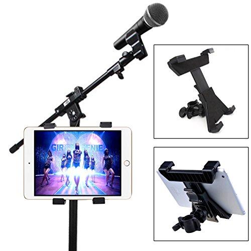 Xcellent Global Soporte Universal para Tablet iPad 7'-11' con Soporte de Micrófono, Soporte para Bicicleta CA039