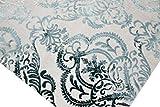 Designer Teppich Moderner Teppich Wollteppich Meliert Wohnzimmer Teppich Wollteppich Ornament Türkis Grau Cream Größe 120x170 cm - 5