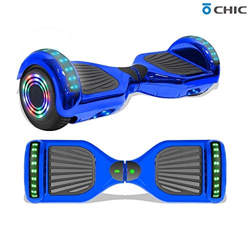Best Review Of Longtime 6.5 Chrome Metallic Hoverboard Self Balancing Scooter with Speaker LED Ligh...