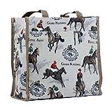 Signare Tapiz bolsas reutilizables bolsa compra tote bag con diseño de caballo y oveja (Las...