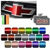 EZAUTOWRAP Free Tool Kit 2Pcs 5'x10' Chevy Emblem Bowtie Gloss Metallic Green Vinyl Wrap Sticker Decal Film Overlay Sheet