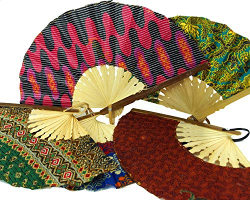 Guru-Shop Bedekte Bamboe Ventilator, Handventilator