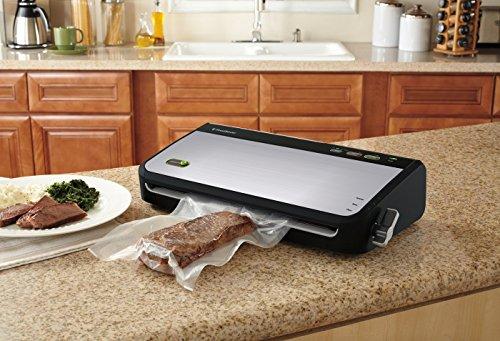 FoodSaver FM2435 Vacuum Sealer Machine with Bonus Handheld Sealer and Starter Kit | Safety Certified | Silver