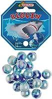 Kim'Play- Lot de 20+1 Billes, Requin, 500832