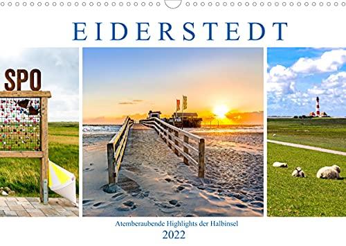 EIDERSTEDT-HIGHLIGHTS (Wandkalender 2022 DIN A3 quer)