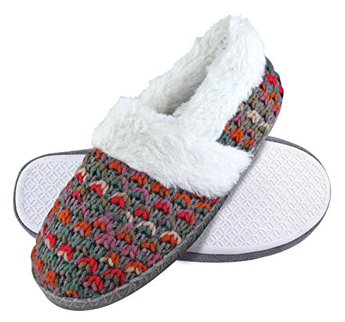DUNLOP - Mujer Invierno Calientes Suaves Peluche Pantuflas Zapatillas por Casa (38 EU, 8029 Brown)