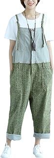 Vogstyle Women's Casual Printing Denim Jumpsuit Pants