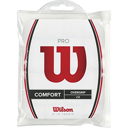 Wilson Unisex Griffband Pro Overgrip, weiß, 12 Stück, WRZ4016WH